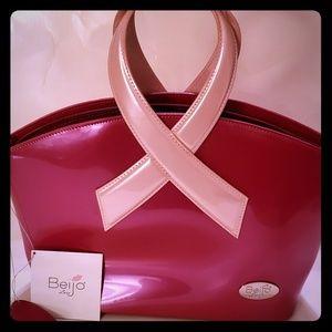 Beijo breast cancer awareness handbag